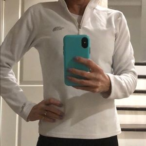 North Face white pullover small